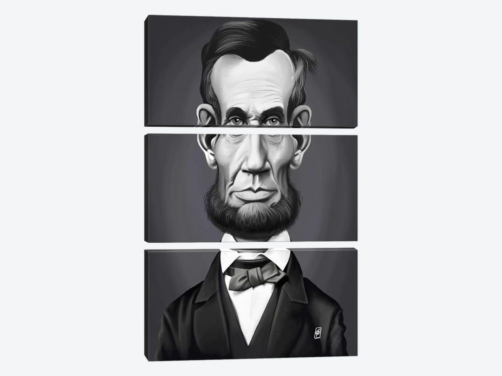 Abraham Lincoln by Rob Snow 3-piece Art Print