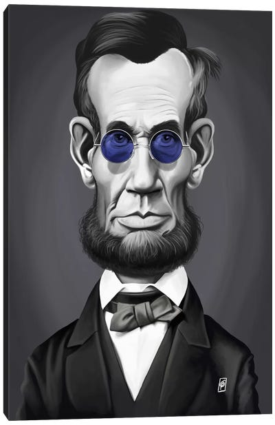 Abraham Lincoln (Steampunk Glasses) Canvas Art Print