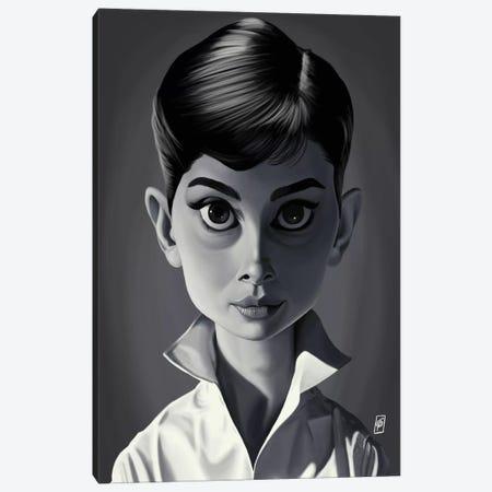 Audrey Hepburn Canvas Print #RSW187} by Rob Snow Canvas Print