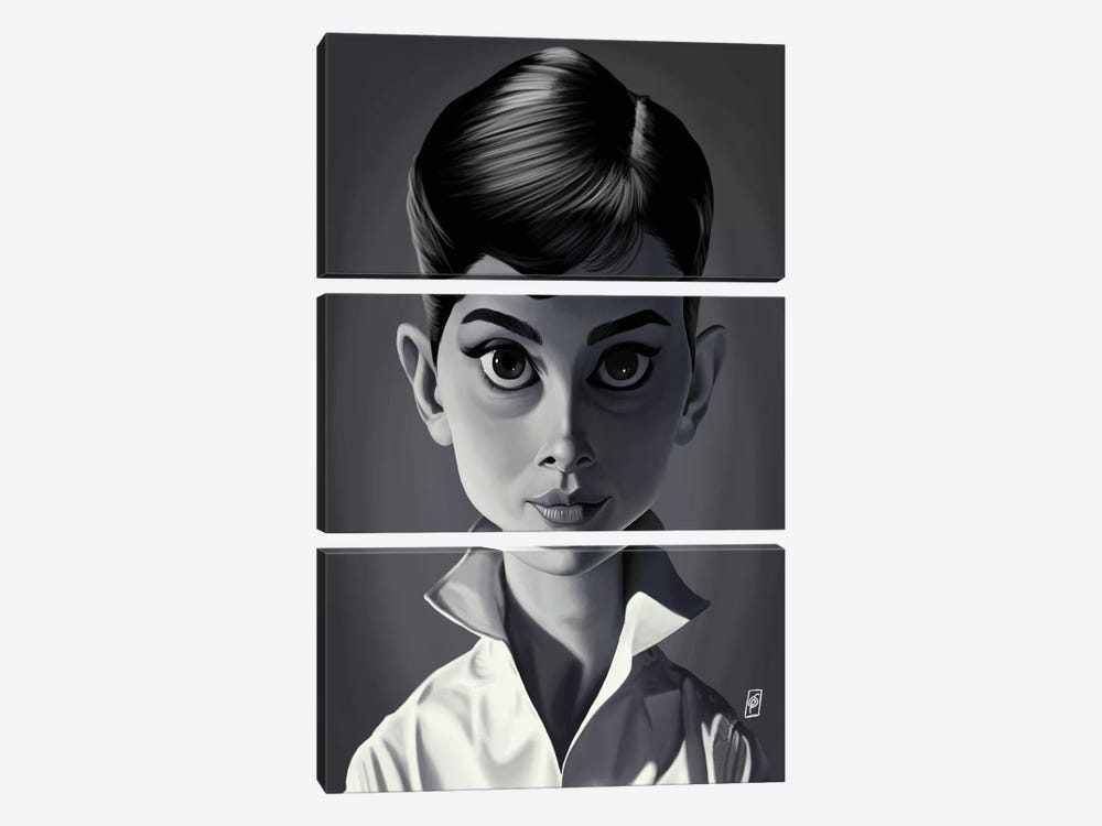 Audrey Hepburn by Rob Snow 3-piece Canvas Art Print