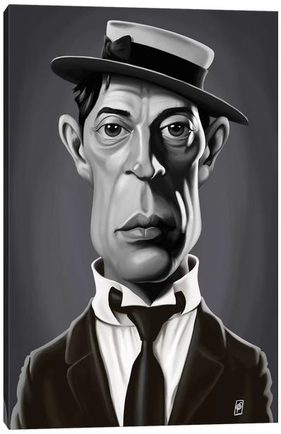 Buster Keaton Canvas Art Print