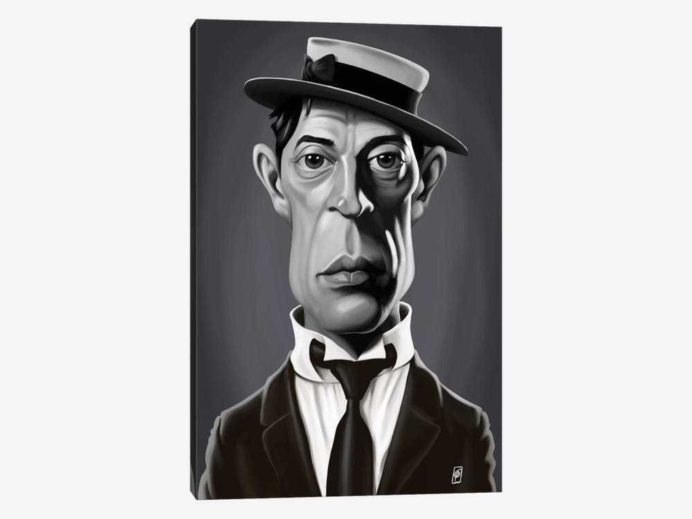 Vintage Celebrity Sunday Series: Buster Keaton by Rob Snow 1-piece Canvas Art