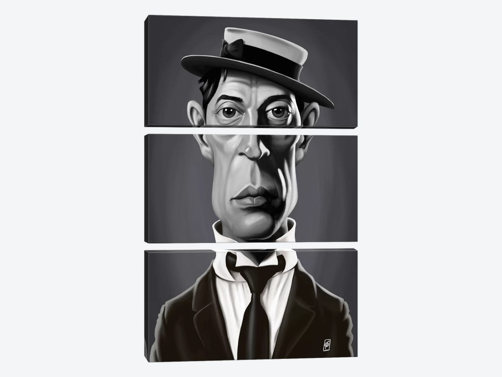 Buster Keaton by Rob Snow 3-piece Canvas Artwork