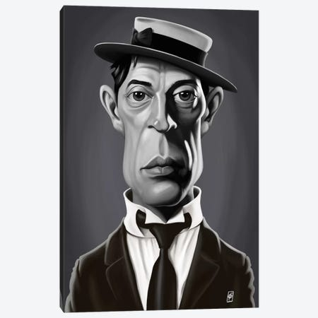 Buster Keaton Canvas Print #RSW188} by Rob Snow Canvas Wall Art