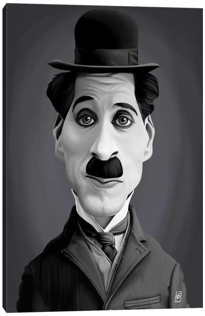 Vintage Celebrity Sunday Series: Charlie Chaplin Canvas Print #RSW189