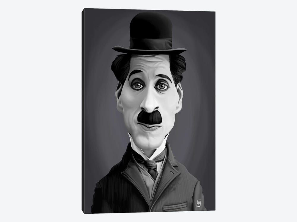 Charlie Chaplin by Rob Snow 1-piece Canvas Art Print