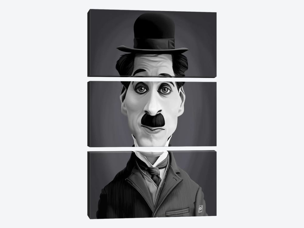 Charlie Chaplin by Rob Snow 3-piece Art Print