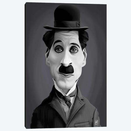 Charlie Chaplin Canvas Print #RSW189} by Rob Snow Canvas Wall Art