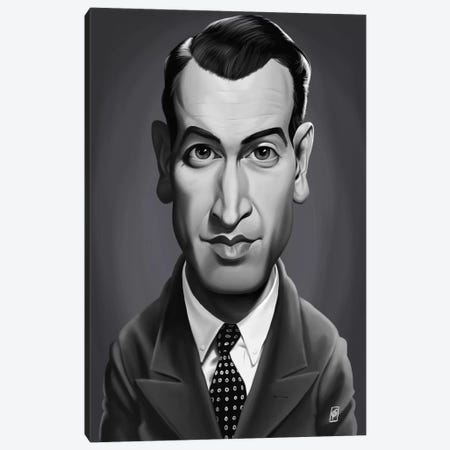 James Stewart Canvas Print #RSW190} by Rob Snow Canvas Art Print
