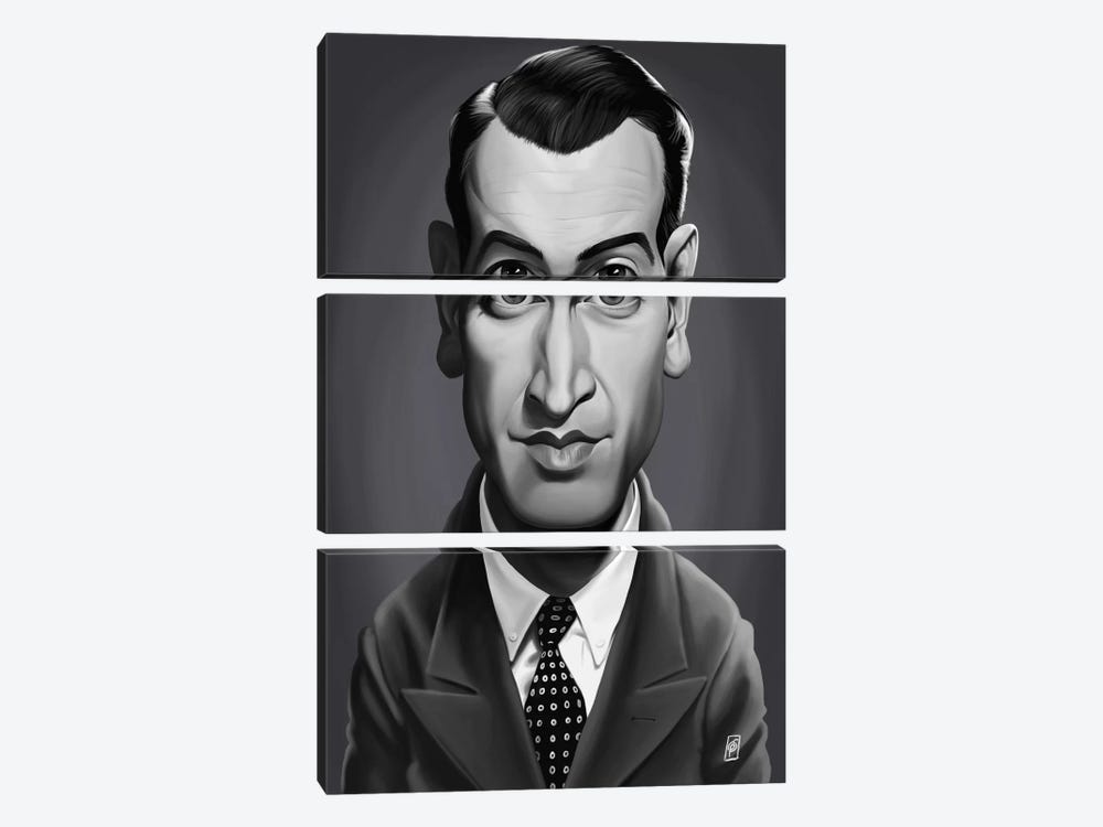 Vintage Celebrity Sunday Series: James Stewart by Rob Snow 3-piece Canvas Print