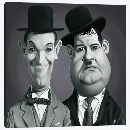 Laurel & Hardy Canvas Print #RSW191} by Rob Snow Canvas Art Print