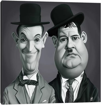 Vintage Celebrity Sunday Series: Laurel & Hardy Canvas Art Print