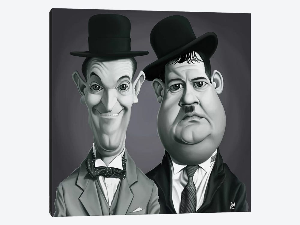 Laurel & Hardy by Rob Snow 1-piece Canvas Artwork