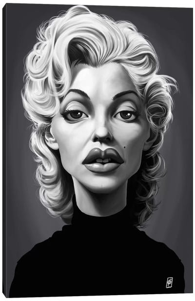 Vintage Celebrity Sunday Series: Marilyn Monroe Canvas Art Print
