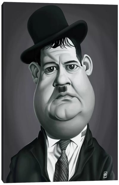 Vintage Celebrity Sunday Series: Oliver Hardy Canvas Art Print