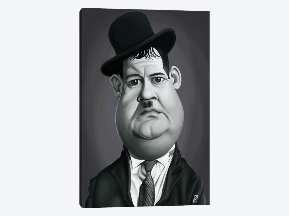 Oliver Hardy by Rob Snow 1-piece Canvas Wall Art