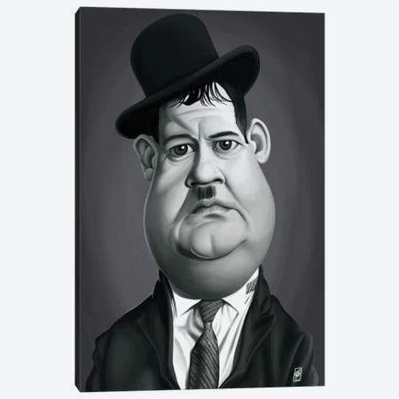 Oliver Hardy Canvas Print #RSW193} by Rob Snow Canvas Art Print