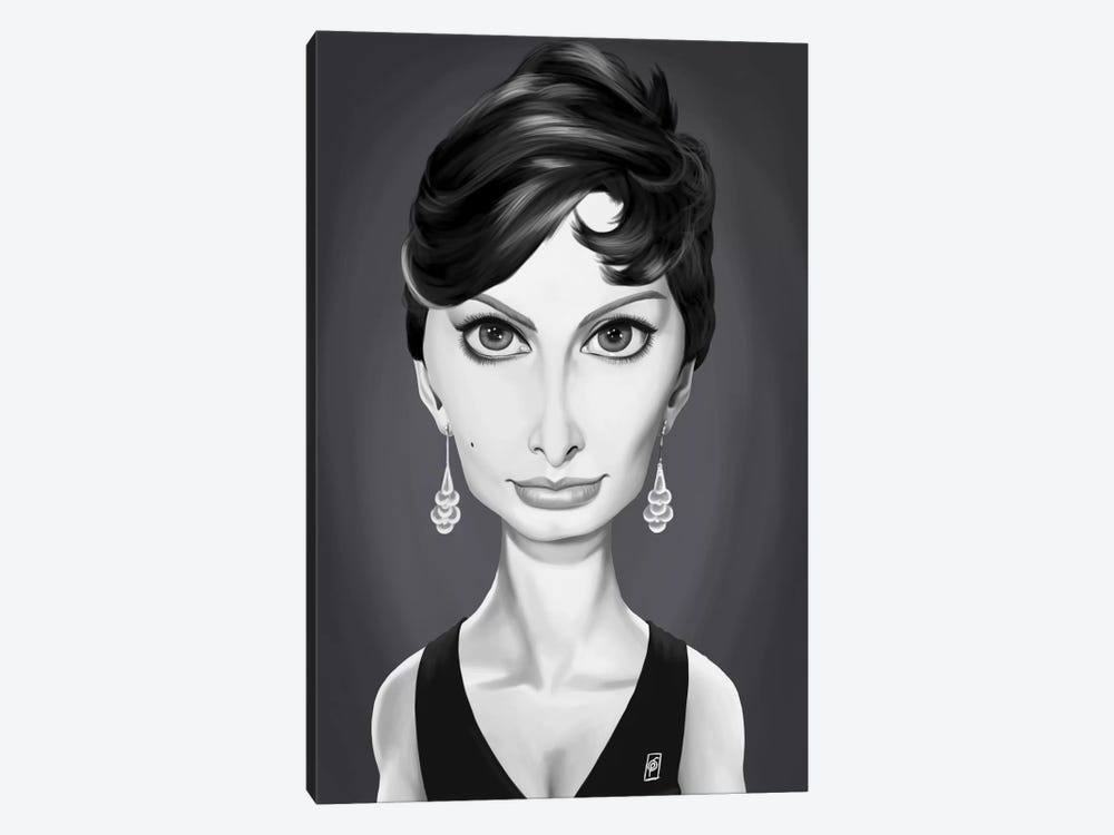 Vintage Celebrity Sunday Series: Sophia Loren by Rob Snow 1-piece Canvas Wall Art