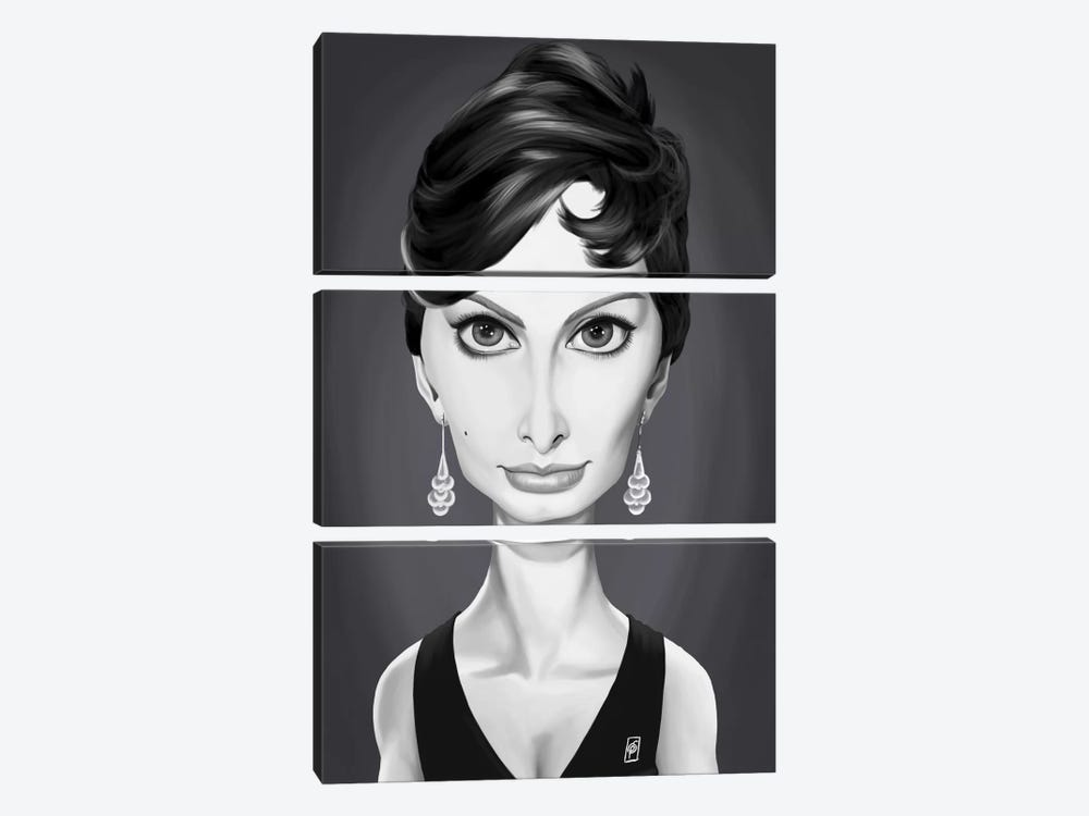Vintage Celebrity Sunday Series: Sophia Loren by Rob Snow 3-piece Canvas Art