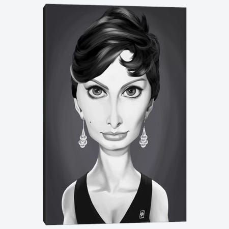Sophia Loren Canvas Print #RSW195} by Rob Snow Canvas Art