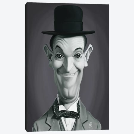 Stan Laurel Canvas Print #RSW196} by Rob Snow Canvas Art