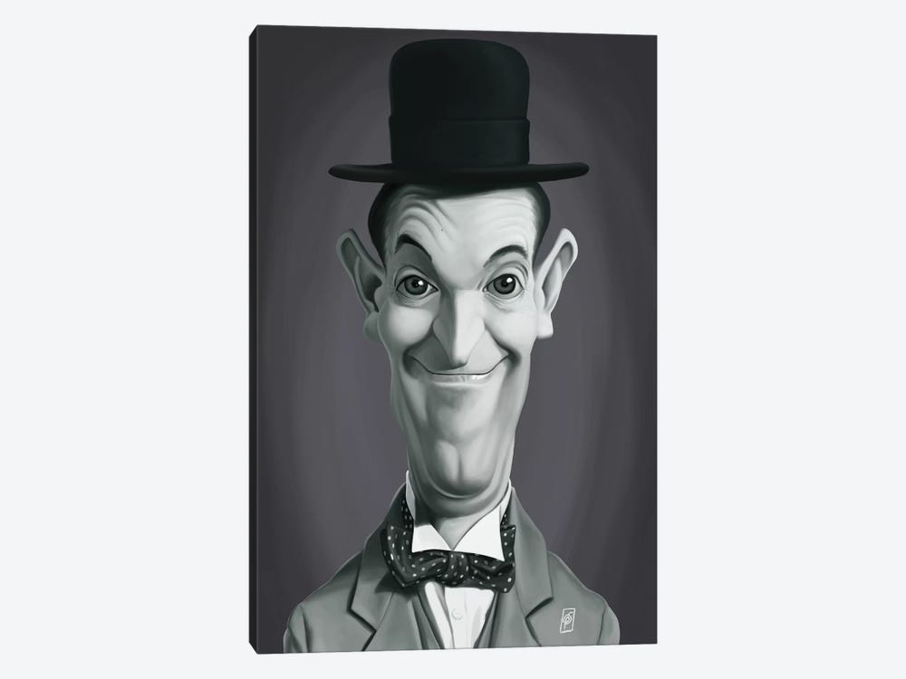 Vintage Celebrity Sunday Series: Stan Laurel by Rob Snow 1-piece Canvas Print