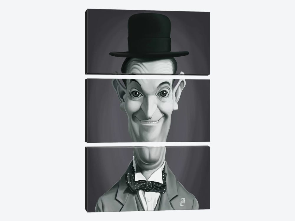 Vintage Celebrity Sunday Series: Stan Laurel by Rob Snow 3-piece Art Print