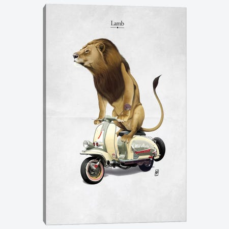 Lamb I Canvas Print #RSW212} by Rob Snow Canvas Artwork