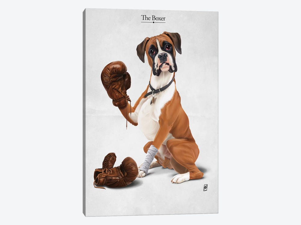 The Boxer I by Rob Snow 1-piece Canvas Wall Art