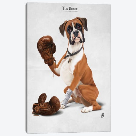 The Boxer I Canvas Print #RSW233} by Rob Snow Canvas Art