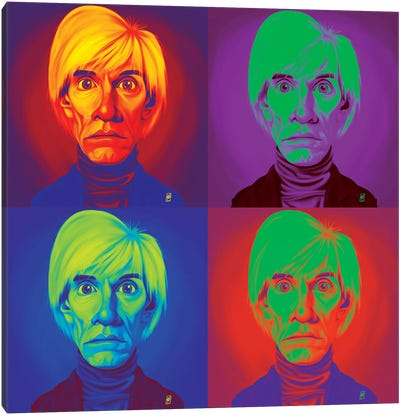 Andy Warhol On Andy Warhol Canvas Art Print