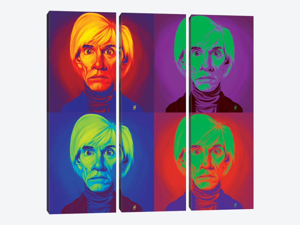 Andy Warhol On Andy Warhol by Rob Snow 3-piece Art Print