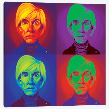 Andy Warhol On Andy Warhol Canvas Print #RSW236} by Rob Snow Canvas Art Print