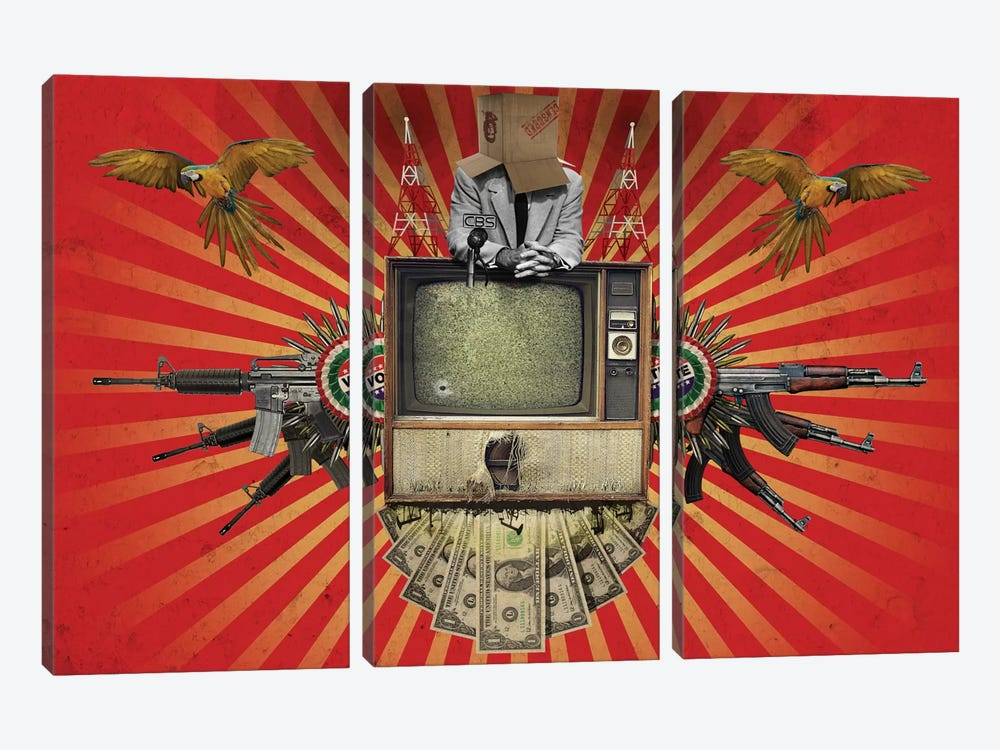 Revolution by Rob Snow 3-piece Canvas Art
