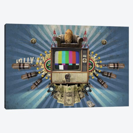 Television Canvas Print #RSW238} by Rob Snow Canvas Wall Art