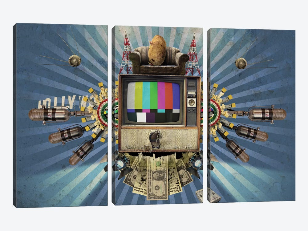 Television by Rob Snow 3-piece Art Print