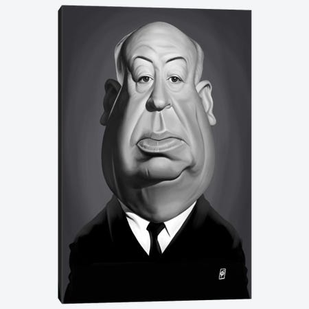 Alfred Hitchcock Canvas Print #RSW239} by Rob Snow Canvas Wall Art