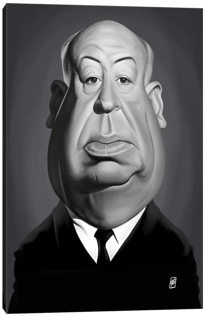 Vintage Celebrity Sunday Series: Alfred Hitchcock Canvas Print #RSW239