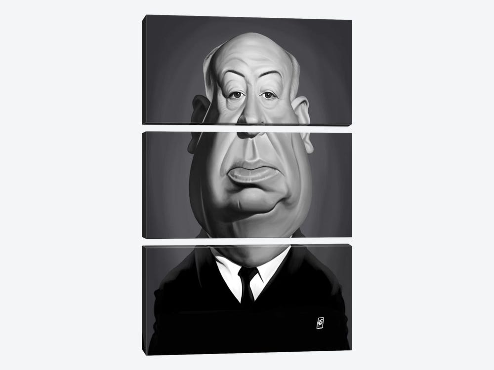 Alfred Hitchcock by Rob Snow 3-piece Canvas Wall Art