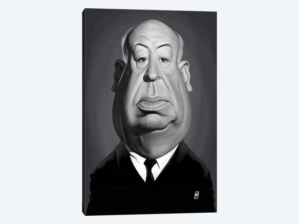 Alfred Hitchcock by Rob Snow 1-piece Canvas Art