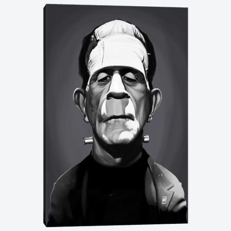 Boris Karloff Canvas Print #RSW240} by Rob Snow Canvas Art Print