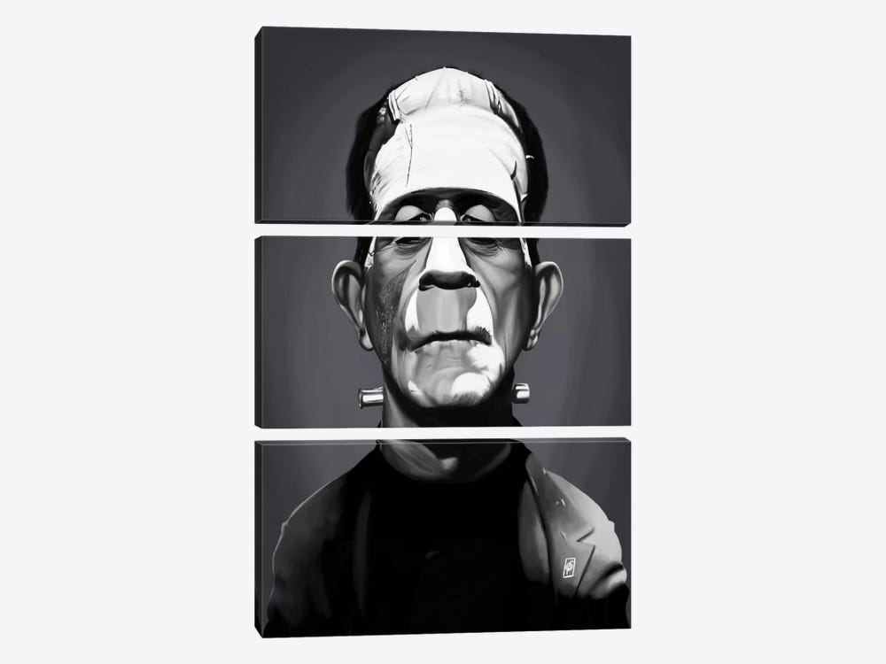 Boris Karloff by Rob Snow 3-piece Canvas Art