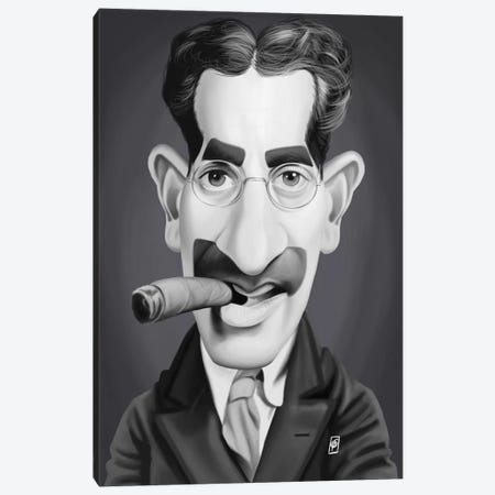 Groucho Marx Canvas Print #RSW241} by Rob Snow Canvas Art Print