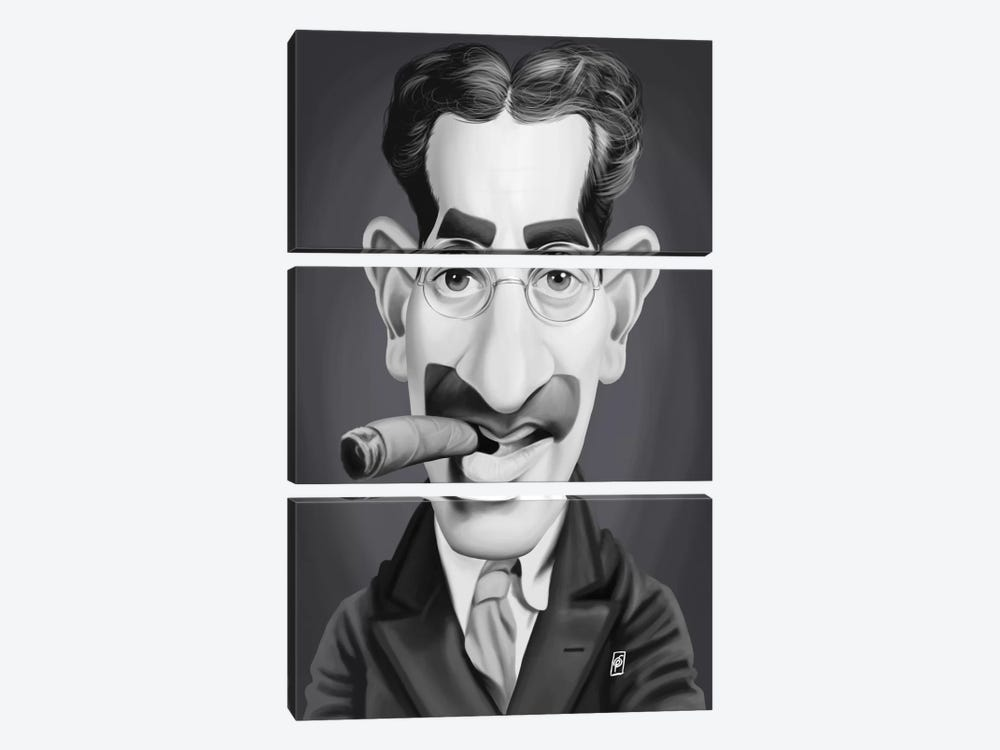 Groucho Marx by Rob Snow 3-piece Canvas Print
