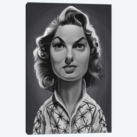 Ingrid Bergman Canvas Print #RSW242} by Rob Snow Canvas Art Print