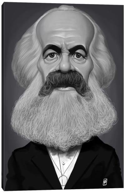 Vintage Celebrity Sunday Series: Karl Marx Canvas Print #RSW243