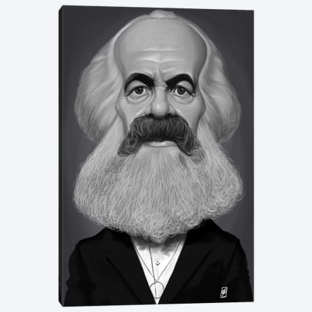 Karl Marx Canvas Print #RSW243} by Rob Snow Canvas Print