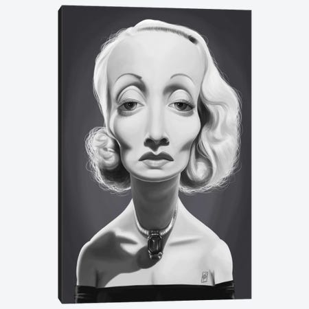 Marlene Dietrich Canvas Print #RSW244} by Rob Snow Canvas Art