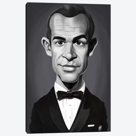 Sean Connery Canvas Print #RSW245} by Rob Snow Canvas Art