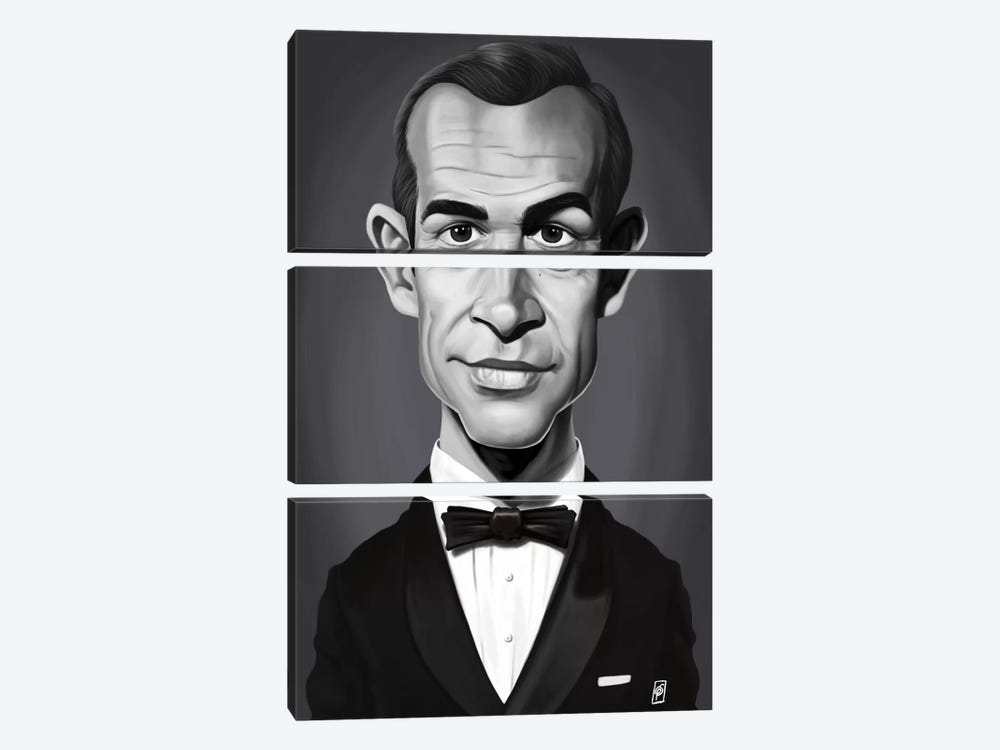 Sean Connery by Rob Snow 3-piece Art Print
